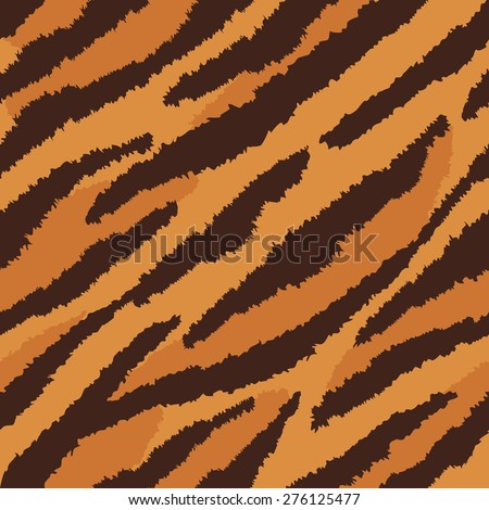 Tiger fur texture pattern repeats seamlessly. - stock photo