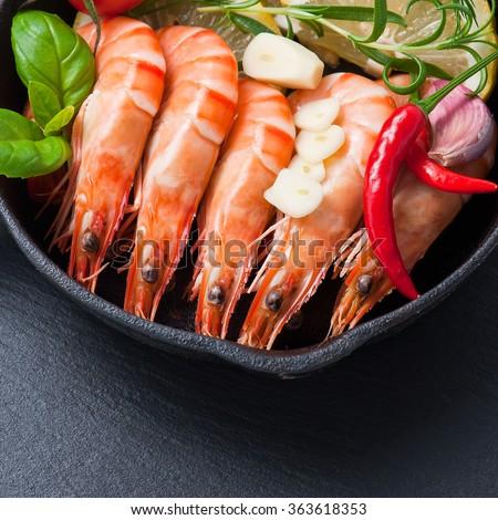 tiger prawns - stock photo