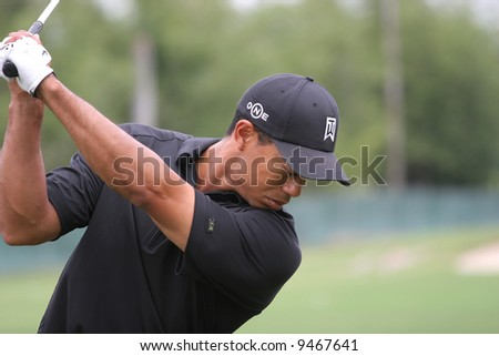 tiger woods at World golf championship, doral, Miami, feb 2007, florida - stock photo