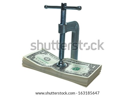 Tight on money - stock photo