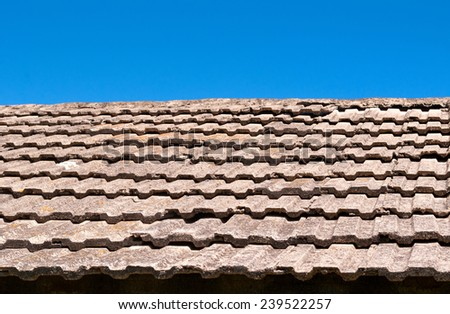 tile against the sky - stock photo
