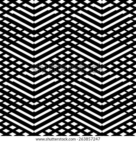 Tile black and white pattern or nordic background - stock photo