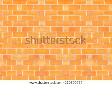 Tile Orange background  horizontal from mosaic wall. - stock photo