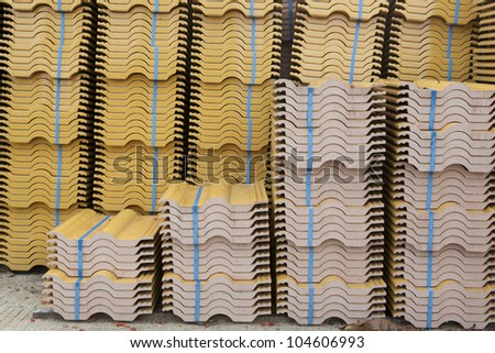 Tiled Roof - stock photo