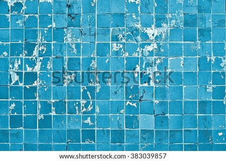 Tiled wall / Old tiles grunge background  - stock photo