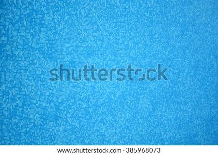 Tiles - blue mosaic. - stock photo