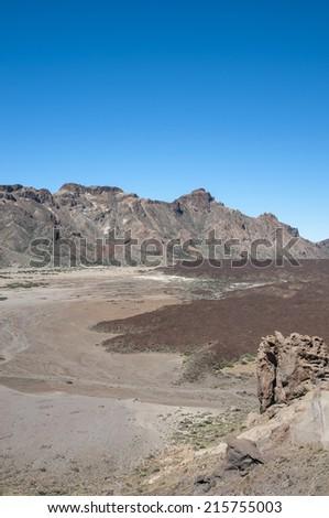 Timanfaya National Park in Tenerife, Canary Islands - stock photo