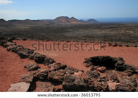 Timanfaya National Park, island Lanzarotte, Spain, Europe - stock photo