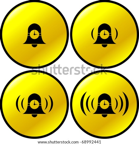 time alarm bell buttons - stock photo