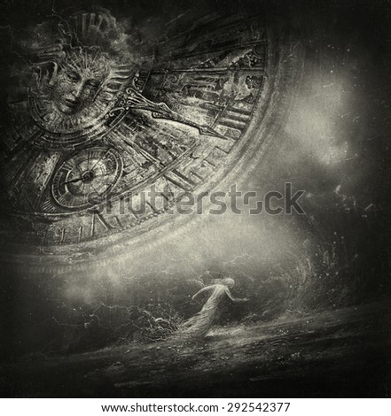 Time allegory - stock photo