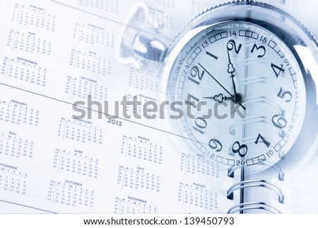 Time and diary page dates - stock photo