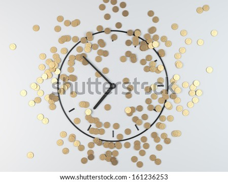 time and money - stock photo