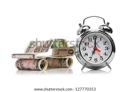 time buy car concept (car made from dollar) - stock photo