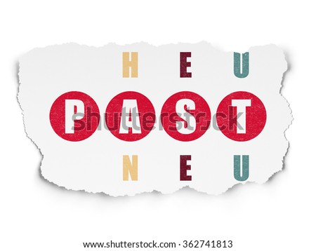 Time concept: Past in Crossword Puzzle - stock photo