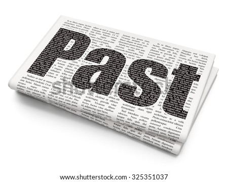 Time concept: Pixelated black text Past on Newspaper background - stock photo