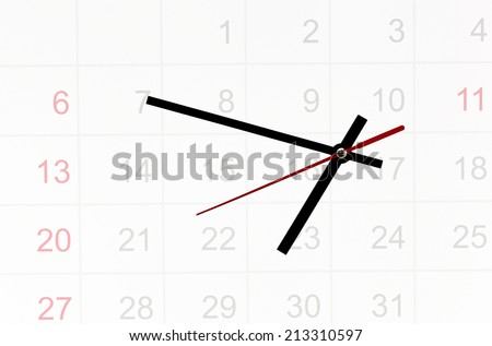 time control of schedule - stock photo