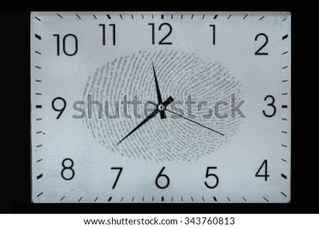 Time Fingerprint scanning technology - stock photo