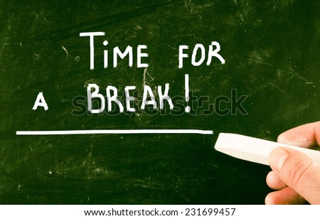 time for a break - stock photo