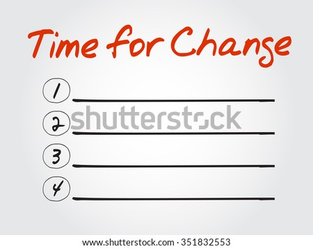 Time for Change blank list, business concept background - stock photo