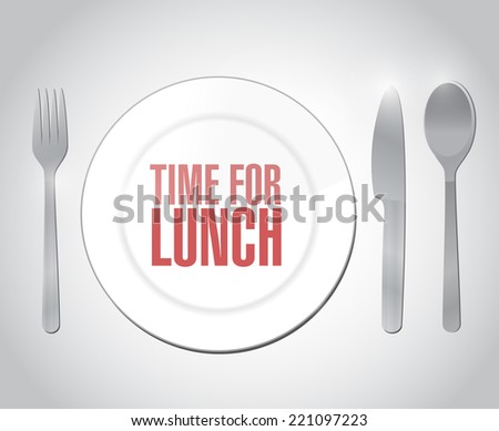 time for lunch restaurant illustration design over a white background - stock photo