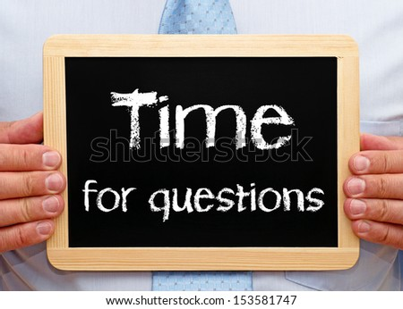 Time for questions - stock photo