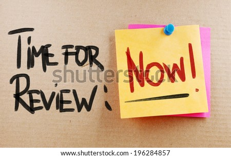 Time For Review Concept - stock photo