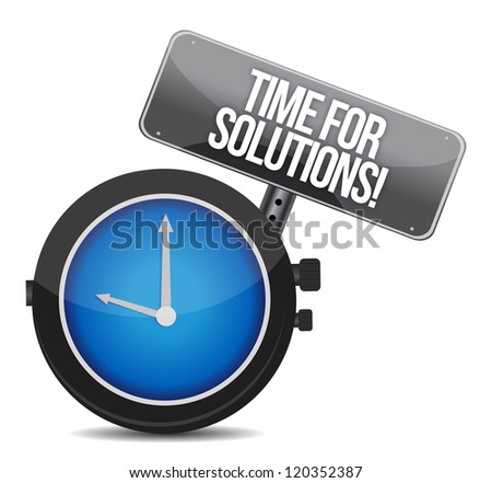 time for solutions concept illustration design over white - stock photo