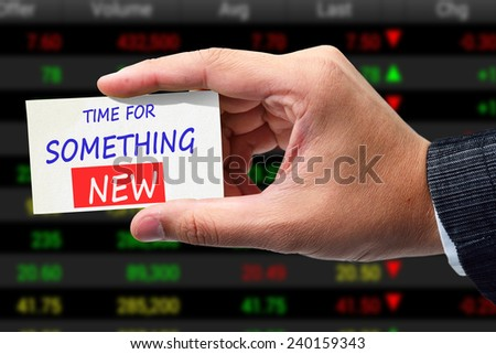 Time for something new  - stock photo