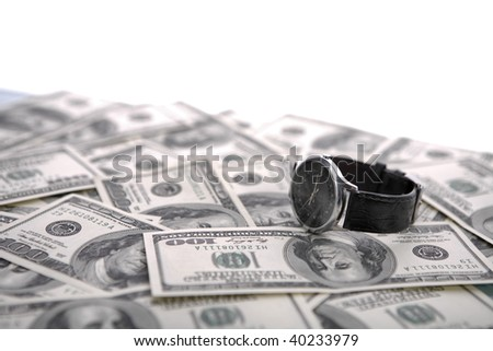 Time is money background - stock photo