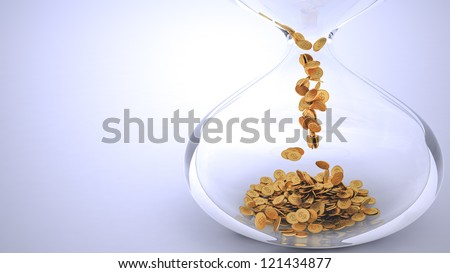 Time is money blue backgrounds - stock photo