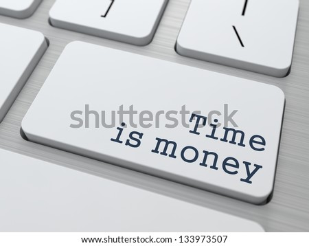 Time is Money Concept. Button on Modern Computer Keyboard with Word Partners on It. - stock photo