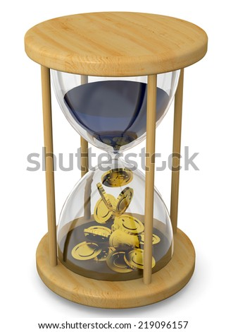Time is Money Concept - 3D - stock photo