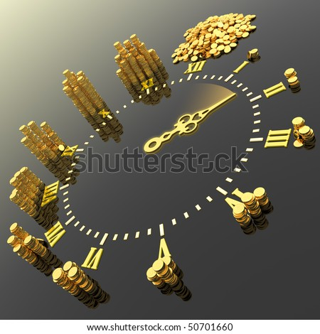 Time is money. Hi-res digitally generated image. - stock photo