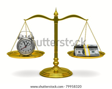 Time is money. Isolated 3D image - stock photo