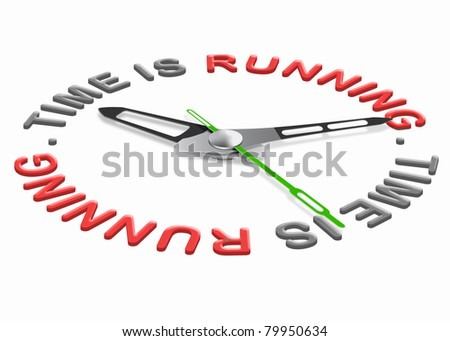 time is running time slips away working against clock losing hours time pressure - stock photo