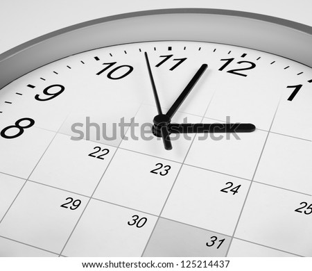 time management agenda concept - stock photo