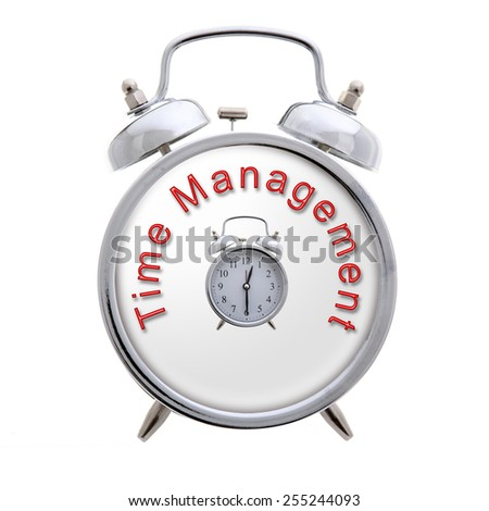 Time Management Concept Clock - stock photo
