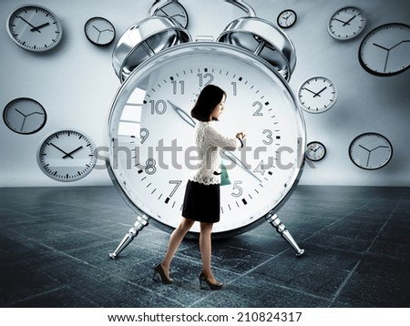 Time rapid loss.Concept - stock photo