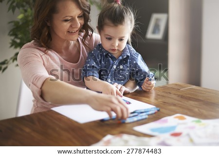 Time spent with my daughter is precious for me - stock photo