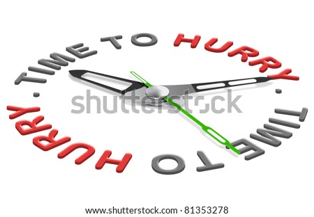 time to hurry deadline ahead working against the clock minutes countdown - stock photo