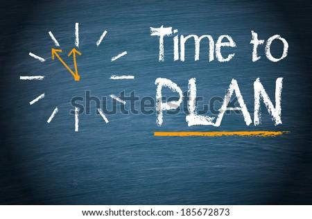 Time to PLAN - stock photo