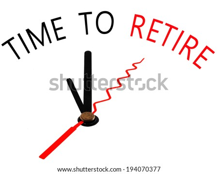 Time to Retire with clock concept - stock photo