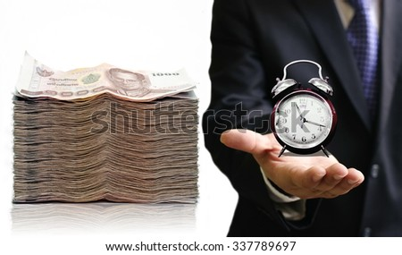 Time to save your money concept - stock photo