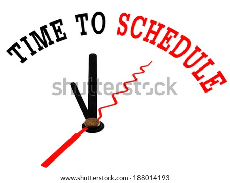 time to schedule concept clock closeup - stock photo