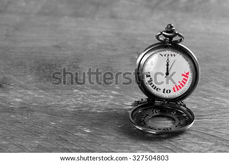 time to think for finding a solution  - stock photo