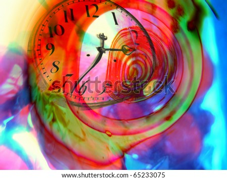 Time warped abstract - surreal imaginary - stock photo