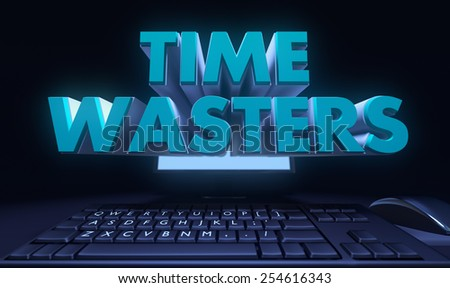 Time wasters - stock photo