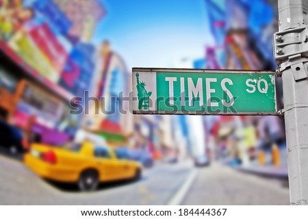 Times Square sign in New York City - stock photo