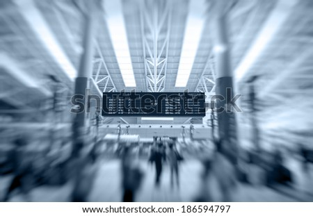 timetable of trains - stock photo