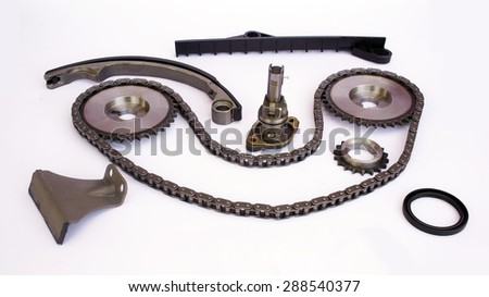 Timing kit Isolate on white - stock photo